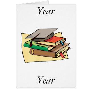 Cap and books note card