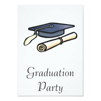 Cap And Diploma 13 Cm X 18 Cm Invitation Card