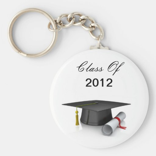 Cap and Diploma Class Of 2012 Graduation Keychain