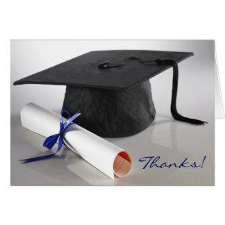 Cap and Diploma Photo Graduation Thank-You Card