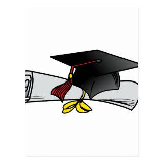 Cap and Diploma Postcard