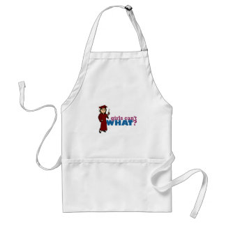 Cap and Gown Girl Standard Apron