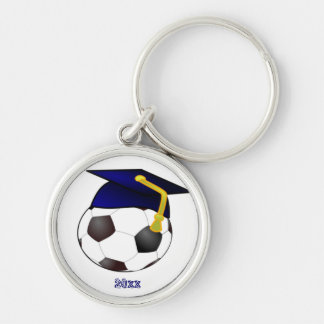 Cap and Soccer Ball Keychain