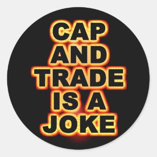 Cap And Trade Round Sticker