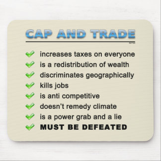 Cap And Trade Scam Mouse Pad