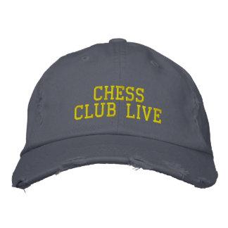 Cap Chess Club Live Distressed Chino Twill