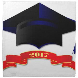 Cap Class Of 2017 Printed Napkin
