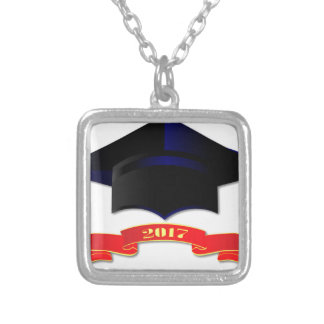 Cap Class Of 2017 Silver Plated Necklace