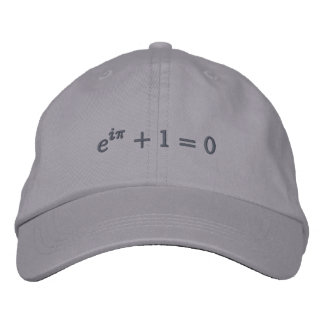 Cap: Euler's identity embroidered, small, gray Embroidered Hat