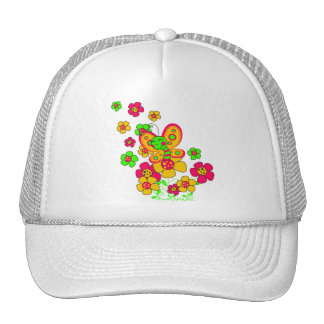 """Cap """"Flowers and butterfly """""""