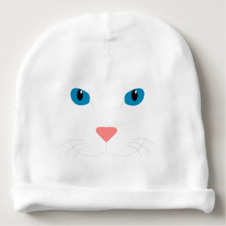 Cap for Drinks White Cat Baby Beanie