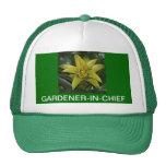 CAP, GARDENER-IN-CHIEF, GREEN BROMELIAD TRUCKER HAT