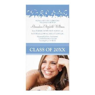 Cap & Gown Graduation Announcement (thistle) Personalized Photo Card
