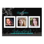 Cap + Gown + Swirls Graduation Invitation /Photos 13 Cm X 18 Cm Invitation Card
