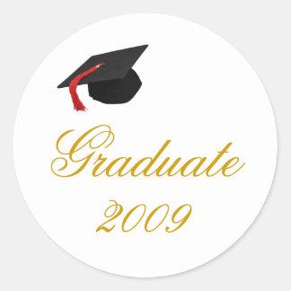 cap, Graduate, 2009 Round Sticker