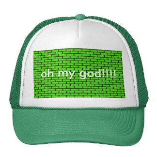 cap green bricks, oh my god! mesh hats