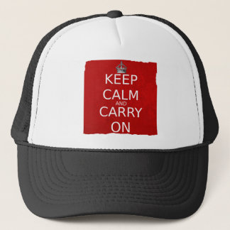 Cap, Keep Calm and Carry On Trucker Hat