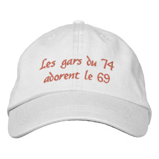 Cap of the 74 which likes the 69 embroidered hats