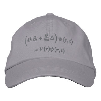 Cap, Schrodinger equation, Dark Gray Baseball Cap