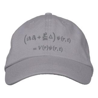Cap, Schrodinger equation, Dark Gray Embroidered Hat