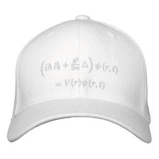 Cap, Schrodinger wave equation, white thread Baseball Cap