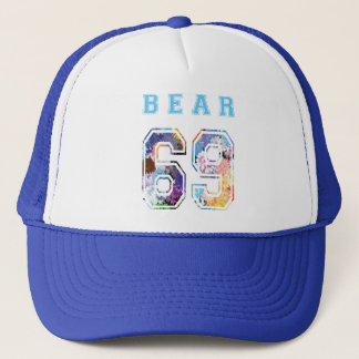 cap to bear 6 9 flowers blue