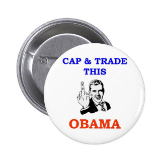 CAP & TRADE 6 CM ROUND BADGE