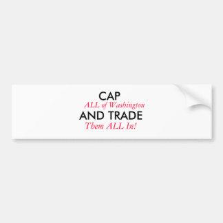 Cap Washington Bumper Sticker
