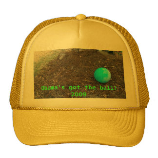 """cap with """"Obama's got the ball!  2009"""" Mesh Hats"""