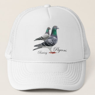 Cap with pair of carrier pigeons