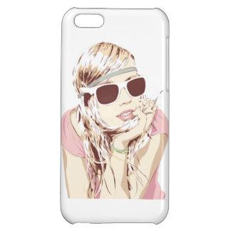 Capa de Celular Garota de Rosa iPhone 5C Covers
