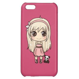 Capa de Celular iPhone Menina com Ursinho Case For iPhone 5C