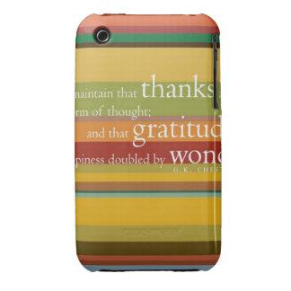 Capa gratidão capas iPhone 3 Case-Mate