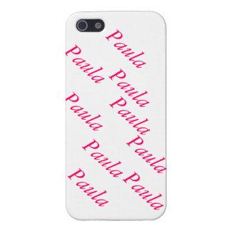capa personalizada com nome próprio Paula iPhone 5 Case