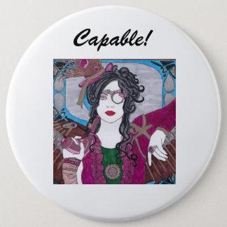Capable Steampunk Button