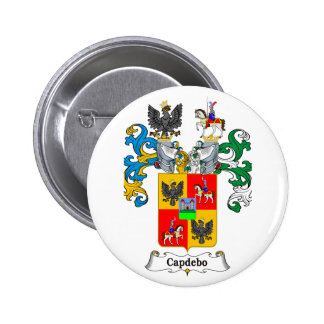 Capdepo Family Hungarian Coat of Arms 6 Cm Round Badge