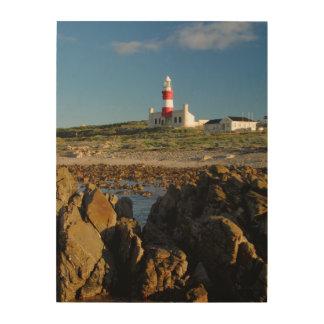 Cape Agulhas Lighthouse, Western Cape Wood Print