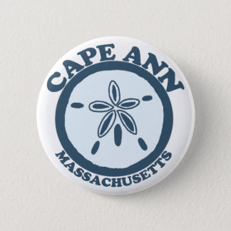 Cape Ann - Sand Dollar Design. 6 Cm Round Badge