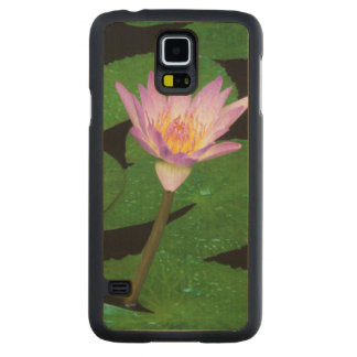 Cape Blue Water Lily (Nymphaea Capensis) Carved Maple Galaxy S5 Case