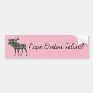Cape Breton Island moose  bumper sticker pink