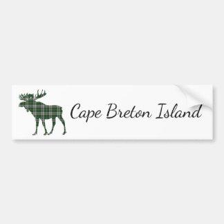 Cape Breton Island moose tartan bumper sticker