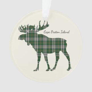 Cape Breton Island moose tartan Christmas ornament