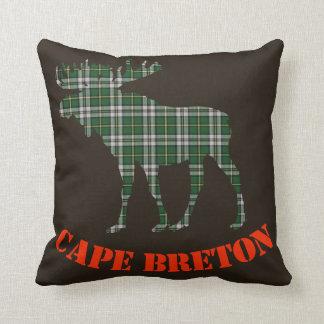 Cape Breton moose Tartan Decorator throw pillow