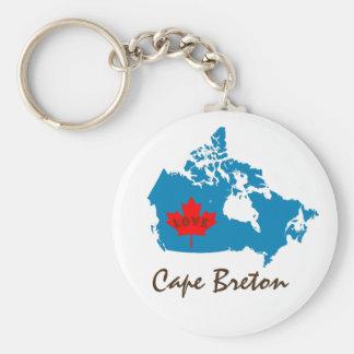 Cape Breton Nova Scotia Customize Canada keychain