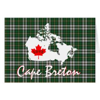 Cape Breton tartan Customize Love Canada card