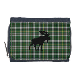 Cape Breton Tartan Denim wallet moose