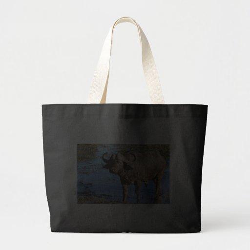Cape Buffalo safari tote bags