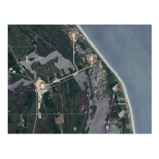 Cape Canaveral Aerial Shot Postcard
