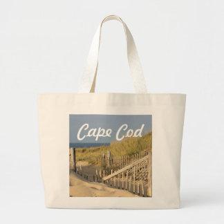 Cape Cod beach photo Large Tote Bag