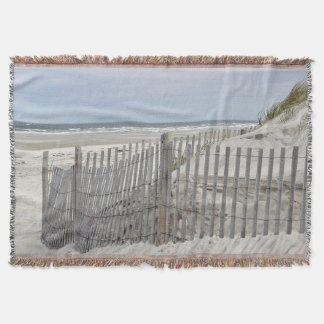 Cape Cod Beach scene Throw Blanket